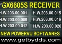 GX6605S HW203.00.020 SOFTWARE