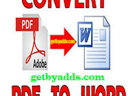 convert pdf to word feature