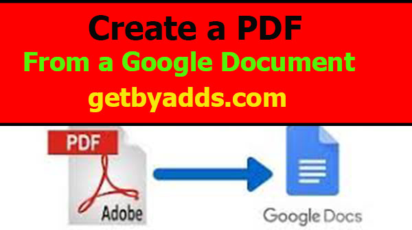 How to Create a PDF from a Google Docs Document