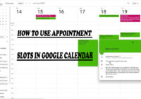 How to Use Appointment Slots in Google Calendar