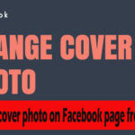 How to change cover photo on Facebook page from mobile?